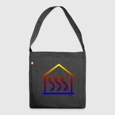 Heating house - Shoulder Bag made from recycled material