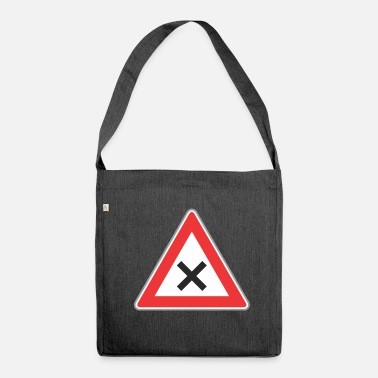 Road Sign Road Sign x sign - Shoulder Bag made from recycled material