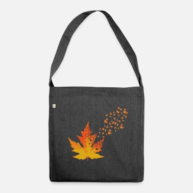 Reminder Leaf reminder gift for autumn - Shoulder Bag made from recycled material
