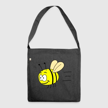 Lustige Hummel - Schultertasche aus Recycling-Material