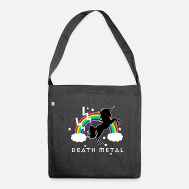 Metal Death Metal Magical Rainbow Unicorn - Shoulder Bag recycled