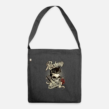 Rockabilly Gift for Rockabillys never dies - cube comb razor - Shoulder Bag recycled