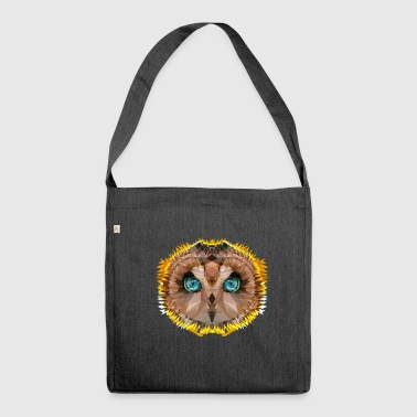 red owl of madagascar - Shoulder Bag made from recycled material
