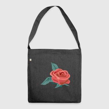 Rose Blume - Schultertasche aus Recycling-Material