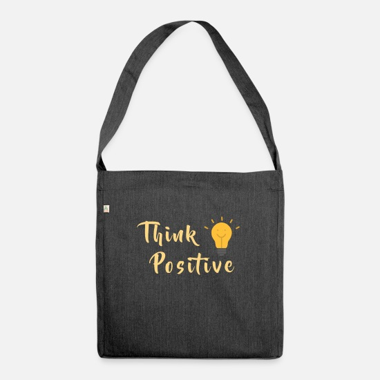 Yogi Bags & Backpacks - Think positive - Shoulder Bag recycled heather black