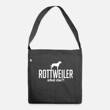 Rottweiler ROTTWEILER what else - Shoulder Bag made from recycled material
