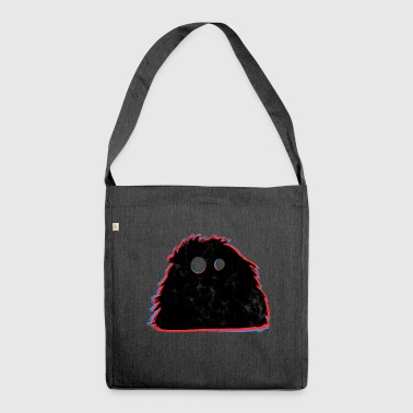 Cute monster witty - Shoulder Bag made from recycled material