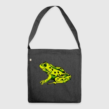 Frog animal animals frogs tree frog kids - Shoulder Bag made from recycled material