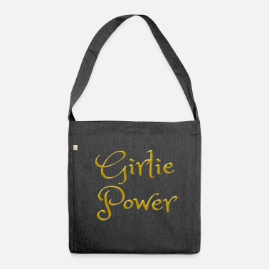 Girlie Girlie Power como idea de regalo para chicas. - Bandolera de material reciclado