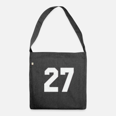 Jersey Number Baseball Sports jersey number / Jersey Number 27 - Shoulder Bag recycled