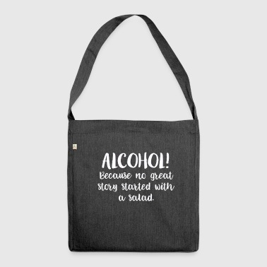 Alcohol beer bachelor gift liquor - Shoulder Bag made from recycled material