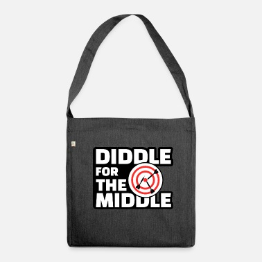 Diddl Diddle for the Middle - Lustiges Dart Shirt - Schultertasche aus Recycling-Material
