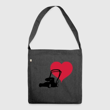 Heart lawn mower - Shoulder Bag made from recycled material