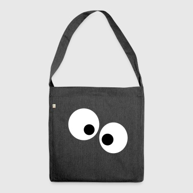 Lustige Augen - Schultertasche aus Recycling-Material