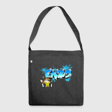 Enzo Graffiti Name - Schultertasche aus Recycling-Material