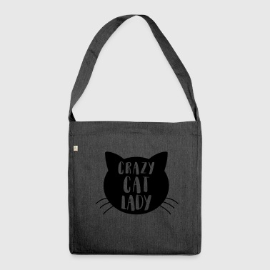 Crazy cat Lady - Schultertasche aus Recycling-Material