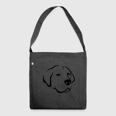 Dog silhouette 6b - Shoulder Bag made from recycled material