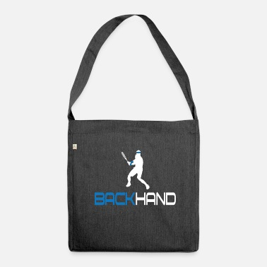 Backhand Tennis Backhand - Shoulder Bag recycled