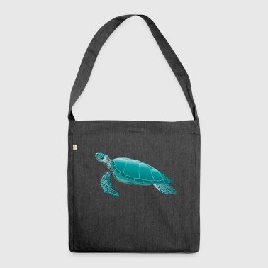 sea turtle - Shoulder Bag made from recycled material