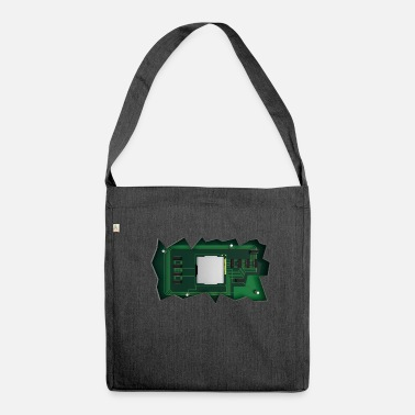 Horizontal Horizontal Electronics - Shoulder Bag made from recycled material
