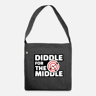 Diddl Diddle for the Middle - Lustiges Dart Shirt - Umhängetasche aus Recyclingmaterial