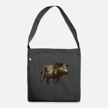 Wild Boar wild boar - Shoulder Bag made from recycled material