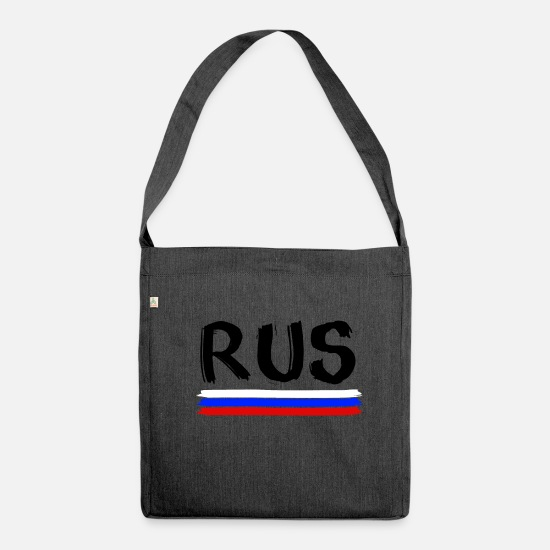 Soccer Bags & Backpacks - russia - Shoulder Bag recycled heather black