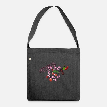 Cherries Cherries. Cherries with cherry blossoms. - Shoulder Bag made from recycled material