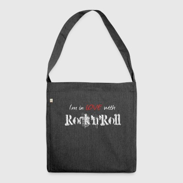 Rock n Roll White - Shoulder Bag made from recycled material