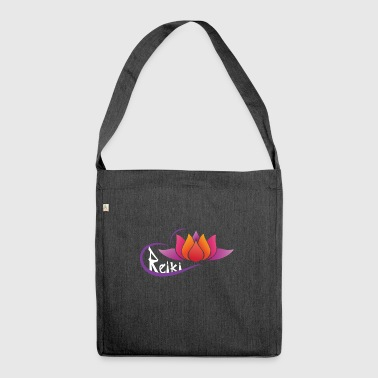Flower lotus reiki - Shoulder Bag made from recycled material