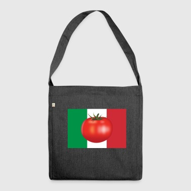Italian flag tomato - Shoulder Bag made from recycled material
