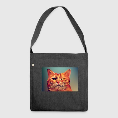 Illustration illustration of a cat - Shoulder Bag made from recycled material
