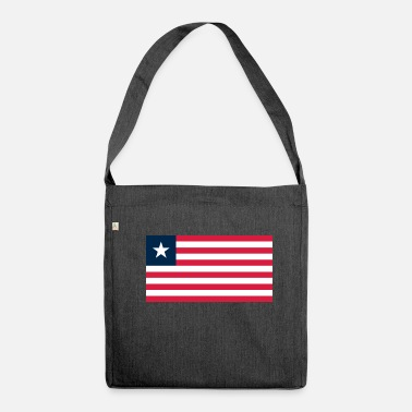 Liberia Liberia flag - Shoulder Bag made from recycled material