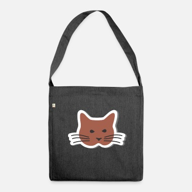 Whiskers Cat with whiskers - Shoulder Bag recycled