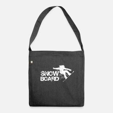 SNOWBOARD STYLE WHITE - Shoulder Bag recycled