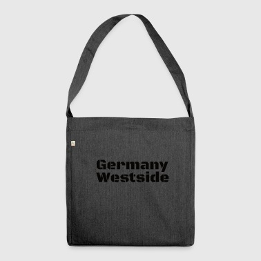 Germany Westside West Germany in black - Shoulder Bag made from recycled material