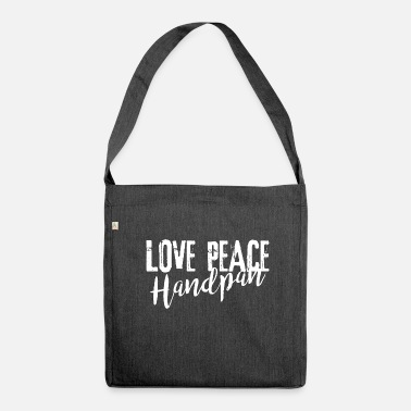 LOVE PEACE Handpan white - Schultertasche aus Recycling-Material