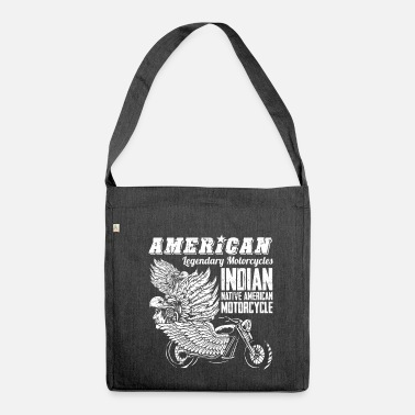 Motor Race American Legendary Motorcycles - Biker Motor Race - Borsa in materiale riciclato