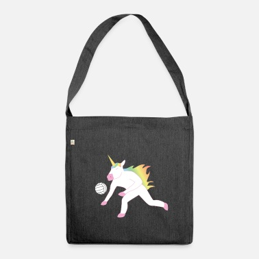 Animal Mythique Volleyball Licorne Volleyballer animal mythique - Sac bandoulière 100 % recyclé