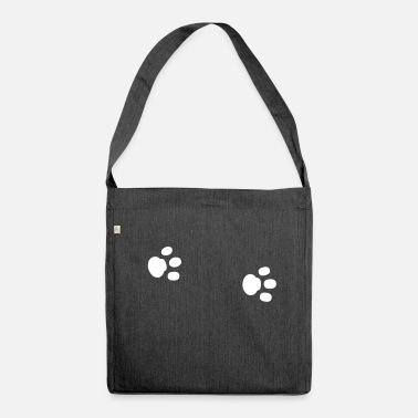 Paw Paws paw paw paws footprint animal trace - Shoulder Bag made from recycled material