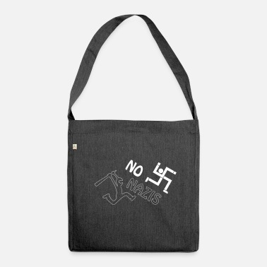 Nazi no nazis - Shoulder Bag made from recycled material