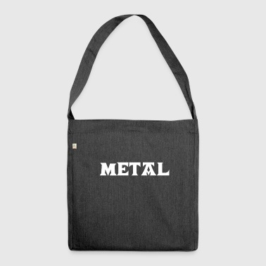 Metal Death Hard Rock Black Metalhead Thrash Core - Schultertasche aus Recycling-Material