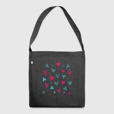 CANDY HEARTS VINTAGE - Schultertasche aus Recycling-Material
