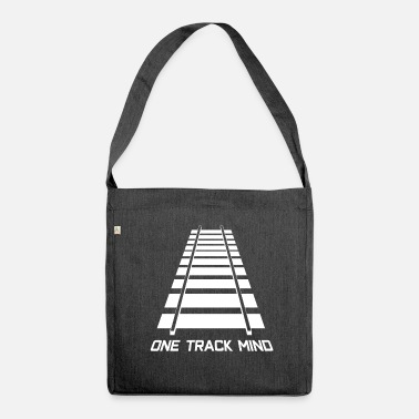 Railway Track Rail tracks track model railway - Shoulder Bag made from recycled material