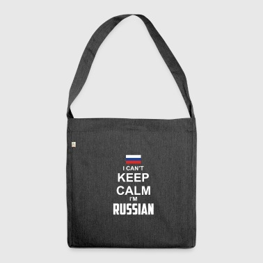 I cant Keep Calm in Russian - Shoulder Bag made from recycled material