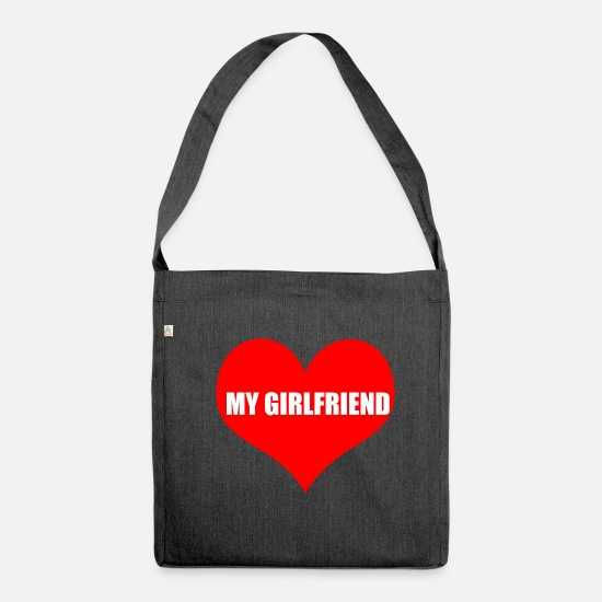 Love Bags & Backpacks - girlfriend - Shoulder Bag recycled heather black