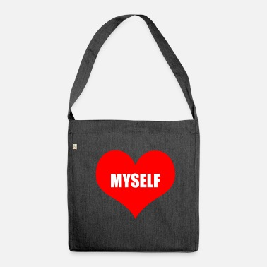 Myself myself - Shoulder Bag recycled