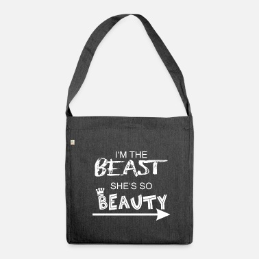 Parisuhde Beast  amp  Beauty 1 - Olkalaukku kierrätysmateriaalista 04cdd456d4