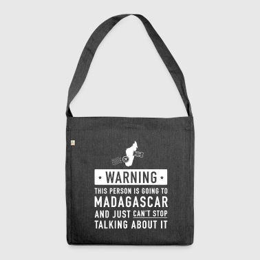 Original Madagascar holiday gift - Shoulder Bag made from recycled material