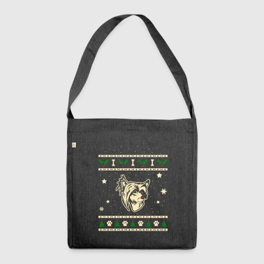 Chinese Crested Crested Dog Christmas Gift - Shoulder Bag made from recycled material
